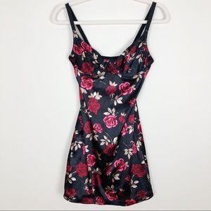 Vintage Rose Floral Slip Dress